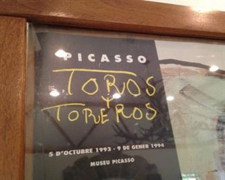 "Picasso ""Toros"" framed poster"