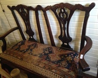 One of several settees available for sale