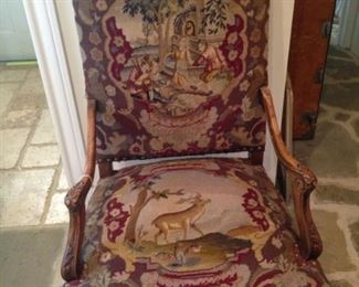 Stately upholstered chair
