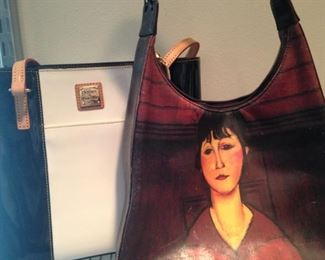 Dooney & Bourke purse; lady art purse