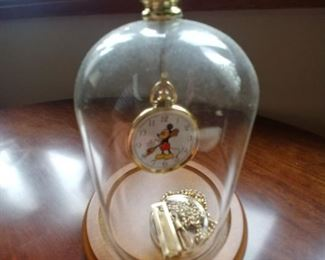 Mickey Mouse pocket watch with watch older $25