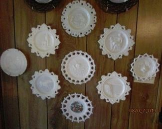 Beautiful Imperial & Westmoreland Milk Glass plates.
