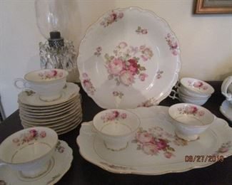 Antique Rose China.  Bavaria & Schuman - Germany