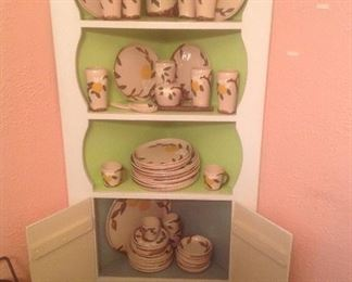 California pottery....Hollywood Ware pattern of Orange Blossom....79 piece set.  Set of eight of all. In perfect condition.   Presale ..$125