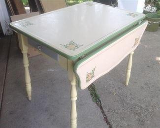 Painted metal drop leaf table......presale $95