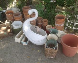 Clay pots and other outdoor items