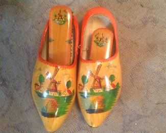 Set of wooden shoes