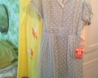 Probably 30+ vintage house dresses plus coats