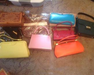 Variety of vintage purses