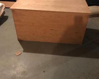 *PRESALE ITEM!* Huge plywood hinged lid box. $80