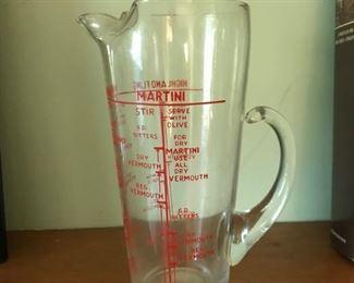 Vintage cocktail pitcher