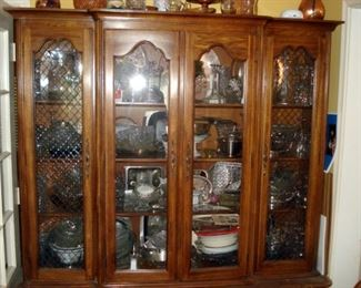 China Cabinet with Loads of Glassware