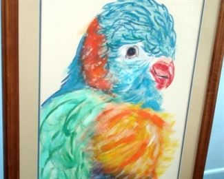 Large Parrot Watercolor