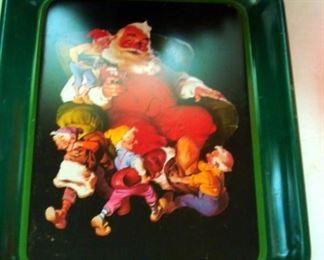 Coca Cola Santa Tray