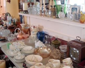 Tables full of Collectible Glass