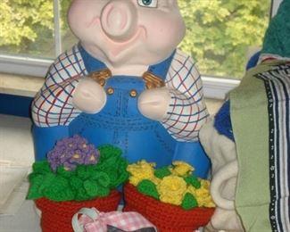 Large Chalkware Pig