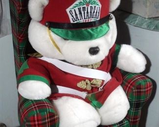 Large Santa Bear in Chair