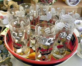 Vintage Drink Set, Casino Theme