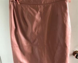 New leather skirt size 12 by Terry Lewis $35, comes with a $25 Nordstrom Gift Card