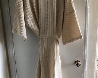 New cream cotton robe XL $40, comes with a $25 Nordstrom Gift Card.