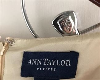 Ann Taylor 8P sleeveless dress. Gently worn but in good condition. You get the dress and a $25 Nordstrom Gift Card for $30! What a deal!