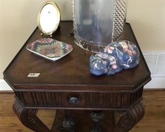 One of a pair of great end tables.