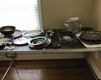 Only a portion of the silver plate