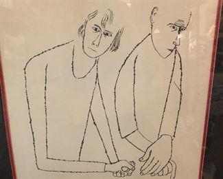 Ben Shahn drawing