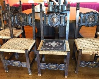 Set of six antique chairs
