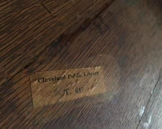 Label underneath table