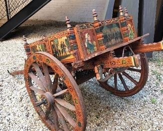 50-year-old Sicilian donkey cart, big enough to pull around a few children but 1/4 scale of a normal one. Commissioned by my client in Sicily