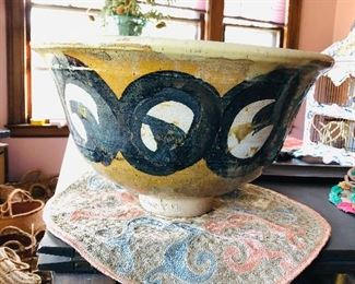 Huge ceramic bowl