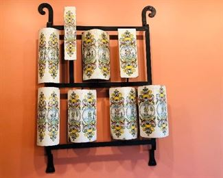 Made up of antique ceramic stove pieces