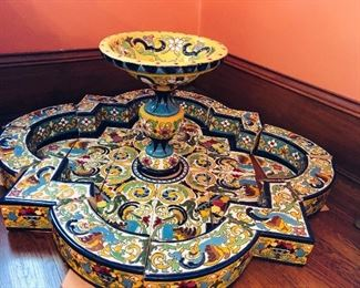 Amazing tile fountain