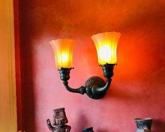 1 of a pair of antique wall sconces