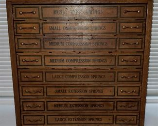 Antique Cabinet for Storing Springs