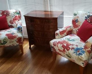 Pair of Floral Accent Chairs