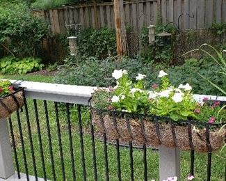Outdoor Deck Rail Planters (4 available)