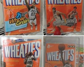 Wheaties Boxes with sports figures