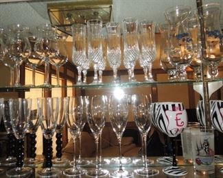 Crystal bar glasses and stemware