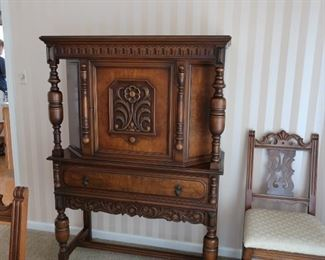 Jacobean  china  cabinet