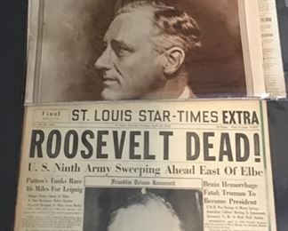 News Paper headlines - Roosevelt - there are other topics