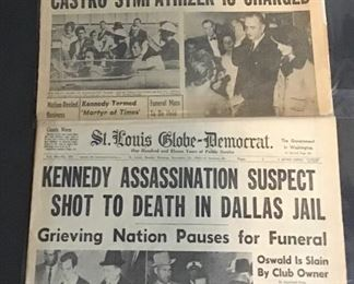 News paper headlines - Kennedy - there are other topics