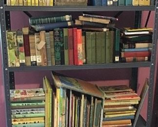 Vintage and antique children's & young readers books- includes Nancy Drew, Bobbsey Twins, Happy Hollisters, etc.