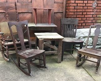 Antique project rocking chairs