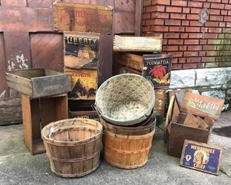 Bushel baskets and crates