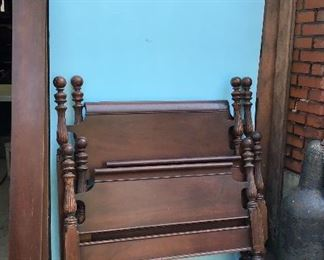 Antique matching twin bed frames