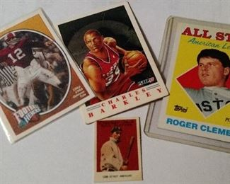 Samples of Different Sports Cards