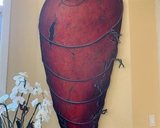 LARGE 3 DIMENSIONAL LARGER THAN LIFE RED VESSEL