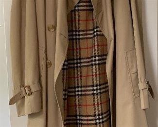 lady's Burberry coat (would fit a medium)